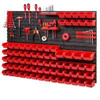 Tablica ścianka narzędziowa do garażu + 74 kuwety PRO-MIX32