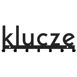 Metalowy wieszak ścienny na ubrania design loft KLUCZE czarny