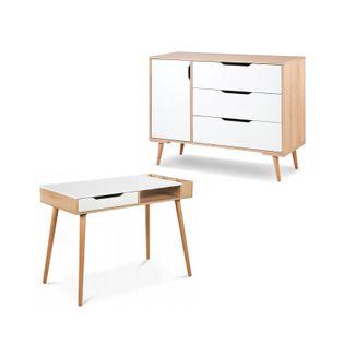 Klupś Sofie zestaw mebli SKANDYNAWSKICH biurko + komoda PROMOCJA