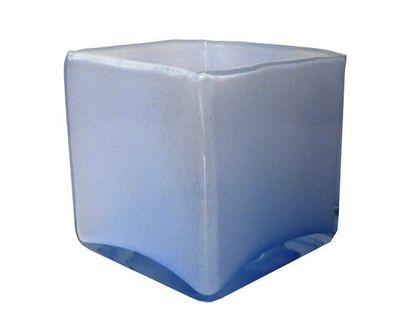 Szklany kwadratowy wazon Niebieskie wazony