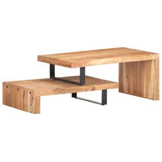 Lumarko 2-częściowy zestaw stolików kawowych, lite drewno akacjowe