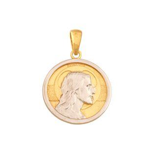 medalik żółte i białe złoto 585/14k