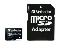 KARTA PAMIĘCI VERBATIM MICRO SDXC 128GB CLASS 10 UHS-1 + ADAPTER SD