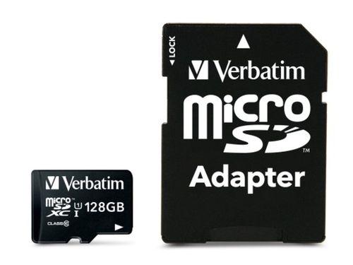 KARTA PAMIĘCI VERBATIM MICRO SDXC 128GB CLASS 10 UHS-1 + ADAPTER SD na Arena.pl
