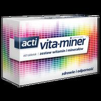 ACTI VITA-MINER, ZESTAW WITAMIN I MINERAŁÓW 60 Tabletek