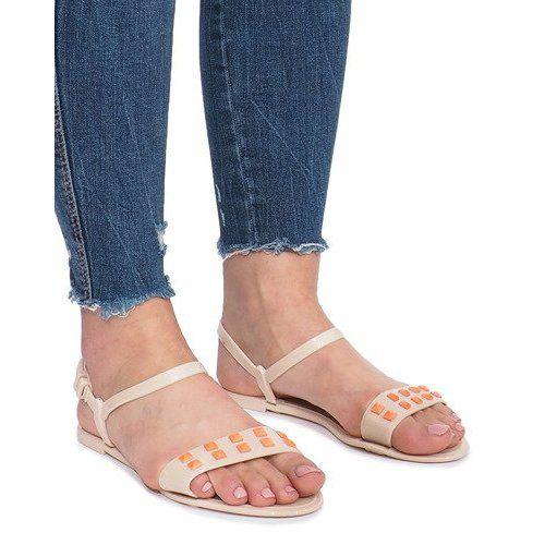 Beżowe sandały meliski Nuevo r.39