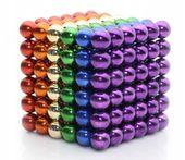Neocube kulki magnetyczne 216 sztuk 5 mm tęczowe