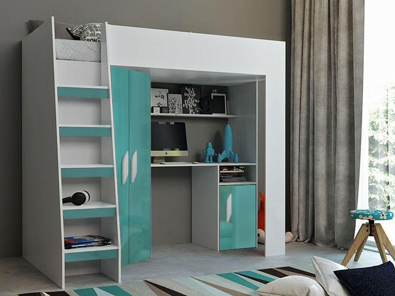 Łóżko piętrowe FIGO antresola szafki zestaw RIBES zdjęcie 4