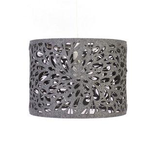 Lampa filcowa szara do salonu lub sypialni 40cm