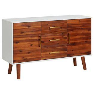 Lumarko Komoda, 110 x 35 x 70 cm, lite drewno akacjowe i MDF!