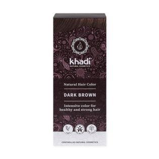 Henna do Włosów Kolor Ciemny Brąz  - Khadi