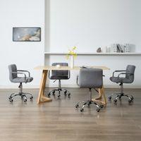 Obrotowe krzesła do jadalni 4 szt. jasnoszare tkanina VidaXL