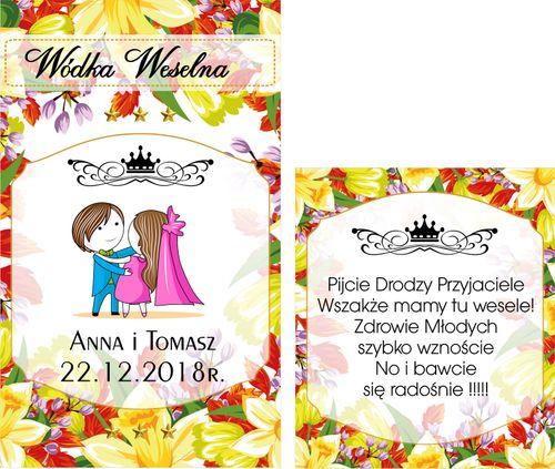 ETYKIETY Naklejki Wódkę Weselną alkohol RETRO+ na Arena.pl