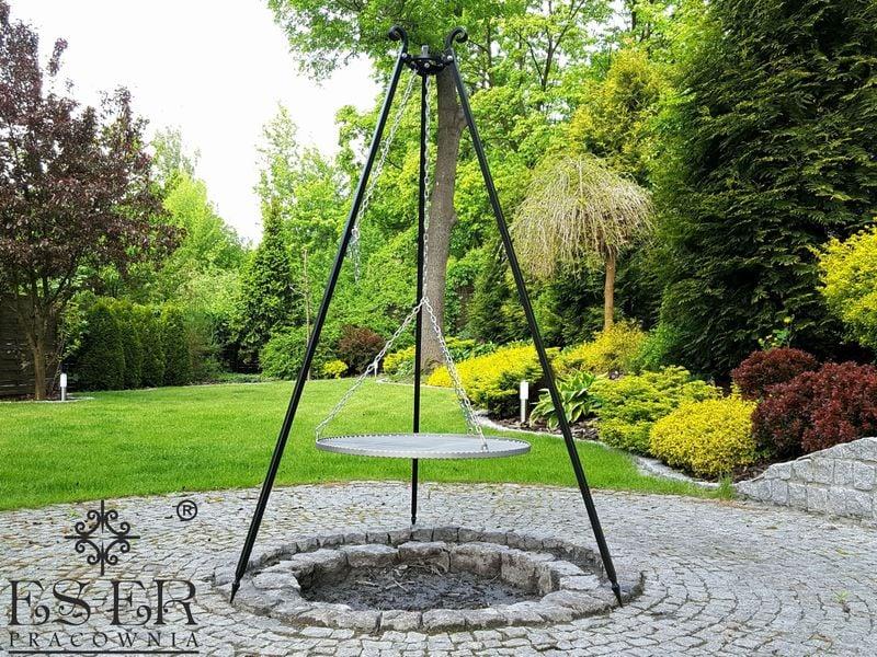 Grill ogrodowy na trójnogu PIOTR z rusztem stalowym 70 cm ES-ER zdjęcie 1
