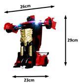 Transformer auto robot sterowany pilotem / ręką USB CZERWONY Z181C zdjęcie 5