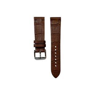 Pasek do zegarka 22mm ciemny brąz krokodyl - polskie - Lamato