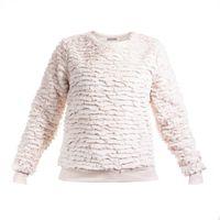 PEPCO Bluza dziewczęca fluffy paski rozmiar 164 cm 13-14 lat beżowa