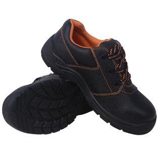 Buty ochronne czarne, rozmiar 44, skórzane