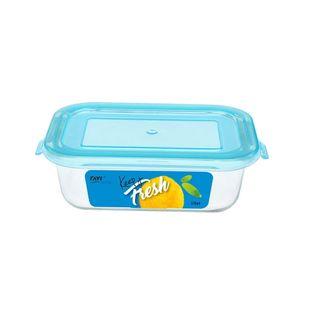 Pojemnik szklany żaroodporny prostokątny z pokrywką do żywności KEEP IT FRESH 370 ml