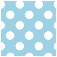Serwetki w KROPKI błękitne kropkowane groszki x16