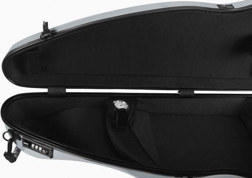 Fiberglass futerał skrzypcowy skrzypce SafeFlight 4/4 M-case Srebrny na Arena.pl