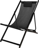 Krzesło ogrodowe ProGarden FD4100180 101x61x91cm czarny leżak składane siedzisko idealnie sprawdzi się w ogrodzie i na działce
