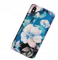 ETUI Case AURORA IPHONE X Blu-Ray Kwiaty