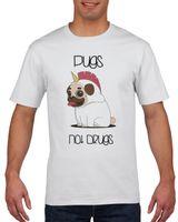 Koszulka męska PUGS NOT DRUGS MOPS L