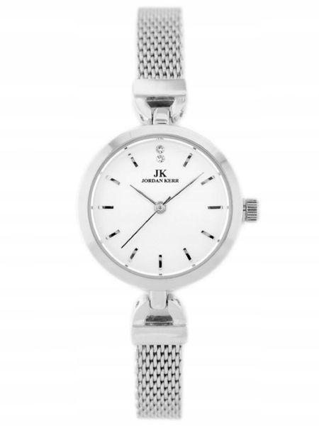 Srebrny zegarek damski bransoleta jordan kerr - pt zdjęcie 3