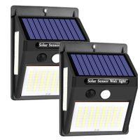 Kinkiet solarny 100 LED z czujnikiem ruchu i zmierzchu 2 szt.