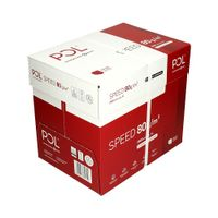 Papier ksero Polspeed A4 80g - karton 5 ryz