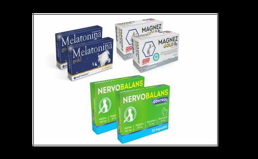 Melatonina 1mg Nervobalans melisa Magnez cytrynian