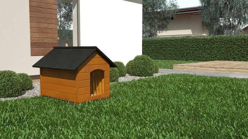 Różne kolory drewniana ocieplana buda dla psa XL solidna 60KG +kurtyna zdjęcie 6