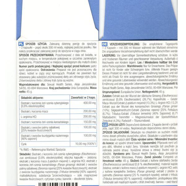 PENILARGE - TABLETKI NA POWIĘKSZENIE PENISA 60 szt zdjęcie 2