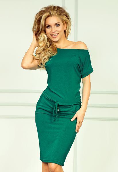 Sukienka z krótkim rękawem - Zielony M zdjęcie 1