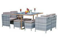 Meble stołowe na taras do ogrodu z technorattanu SOFFIO