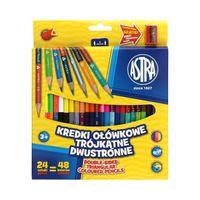 Kredki ołówkowe 24 kolory dwustronne Astra 312116004