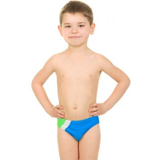 Slipy pływackie BARTEK 116-128 Kolor - Stroje męskie - Bartek - 42 - niebieski / biały / zielony, Rozmiar - Stroje dziecięce - 122