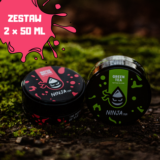 Ninja Ink Tattoo Elixir - Green Tea & Watermelon (50ml) - zestaw