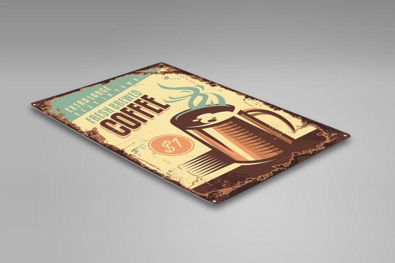 Wydruk na metalu, Retro – kawa 2 30x40 zdjęcie 2