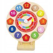 Jumini drewniany edukacyjny zegar dla dzieci
