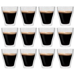 Lumarko Dwuścienne filiżanki na latte macchiato, 12 szt., 280 ml