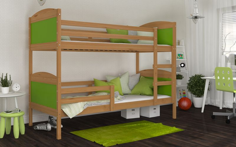 Łóżko piętrowe MATEUSZ bez szuflady 190x80 + materace na Arena.pl