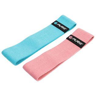 Zestaw gum do ćwiczeń, niebieska i różowa