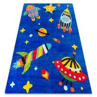 Dywan PLAY Kosmos rakiety planety G3420-1 niebieski antypoślizgowy 120x165 cm niebieski