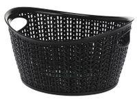 Koszyk kosz owalny organizer WILLOW 3,3 l czarny ażurowy sweterkowy wzór
