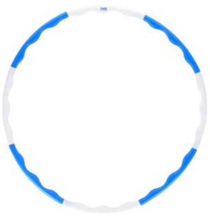 Hula hop 0.4 kg One Fitness HHP090 niebiesko-białe 90 cm