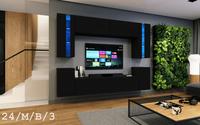 Ścianka LED do Salonu szafki RTV Sonoma BLOOM C24 MAT Nowość  Witryny
