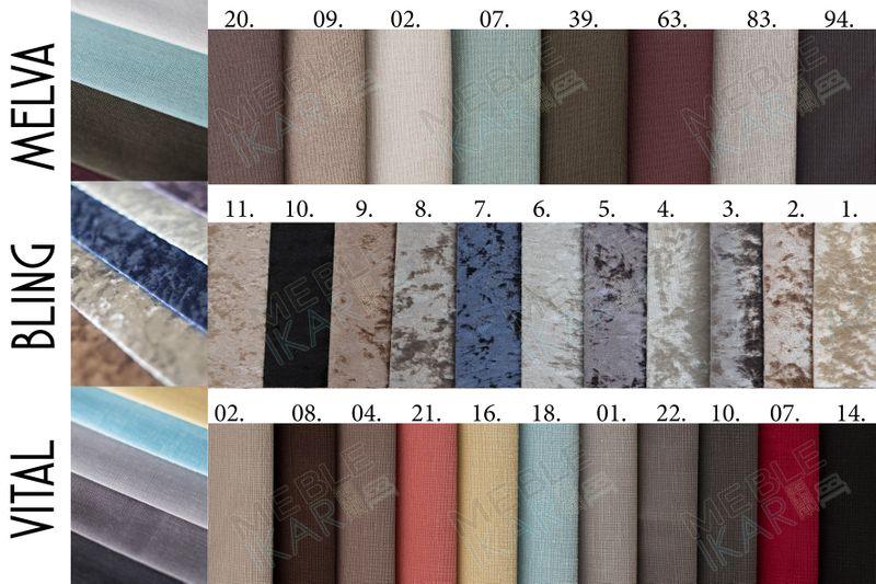 Łóżko tapicerowane STORIE 160x200+ Stelaż zdjęcie 17