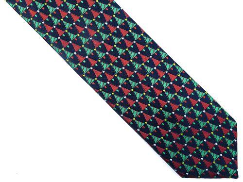 Ciemnogranatowy krawat w choinki D241 na Arena.pl